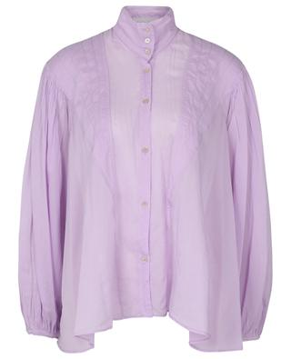 Cotton and silk voile oversize boheme shirt FORTE FORTE