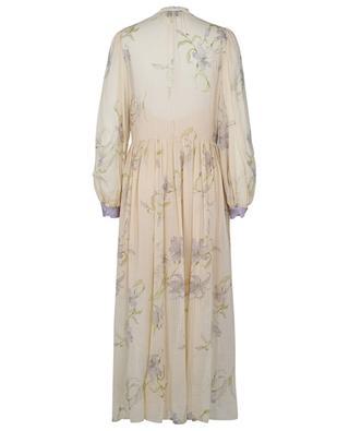 Langes Kleid aus geblümtem Voile Gelsomino FORTE FORTE