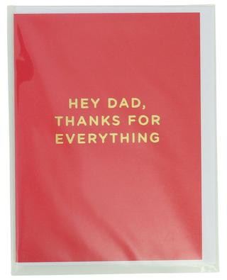 Carte Hey dad, thanks for everything avec enveloppe LAGOM DESIGN