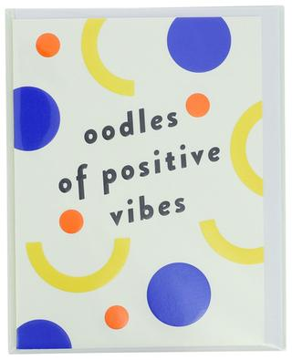 Carte Oodles of positive vibes avec enveloppe LAGOM DESIGN