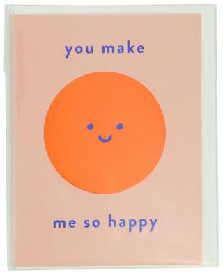 Carte You make me so happy avec enveloppe LAGOM DESIGN