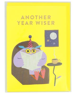 Another year wiser birthday card with envelope LAGOM DESIGN