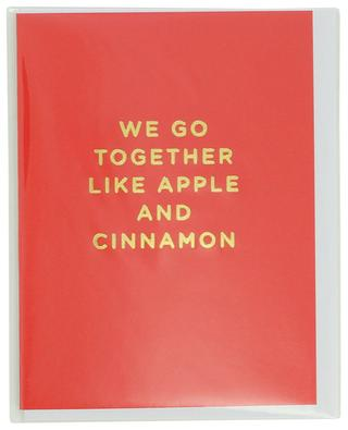 Carte We go together like apple and cinnamon avec enveloppe LAGOM DESIGN