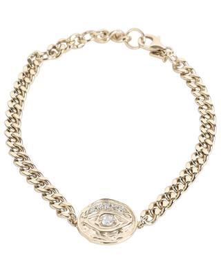 Curb chain medallion eye necklace AVINAS