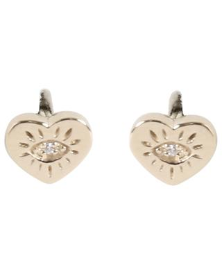 Boucles d'oreilles dorées Heart Eye AVINAS