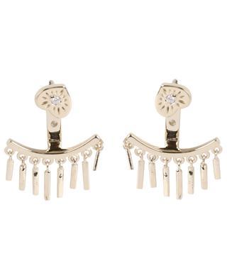 Goldene Ohrringe mit Anhängern Heart Eye AVINAS