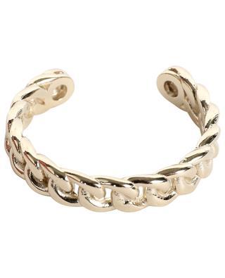 Adjustable golden ring with zircons AVINAS