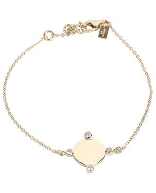 Golden bracelet with medal and zircons AVINAS