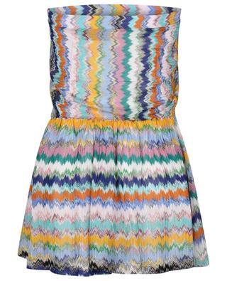 Combishort de plage transparente à motifs zigzag multicolores MISSONI MARE