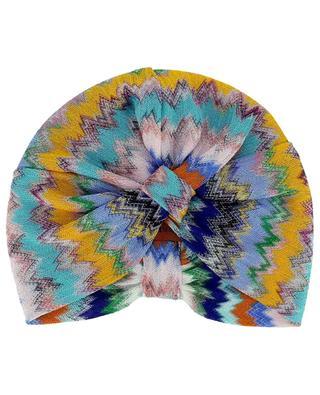 Turban de plage en maille ornée de zigzags multicolores MISSONI MARE