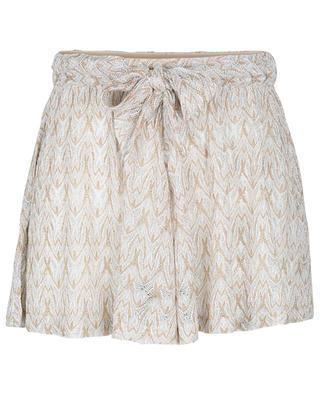 Beach shorts with glittering zigzag patterns MISSONI MARE