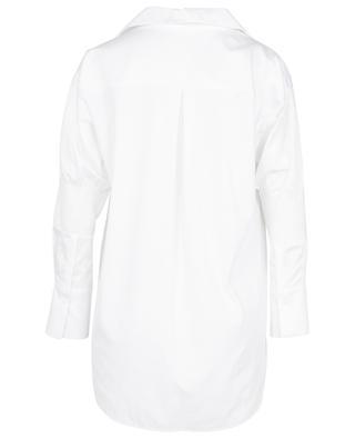 Smocked long bi-material blouse MARC CAIN