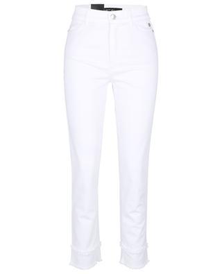 Jean blanc fuselé taille haute orné de franges Comfort Tapered MARC CAIN