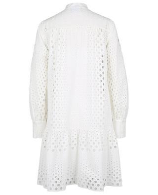 Robe chemise midi embellie de broderies anglaises AKRIS PUNTO