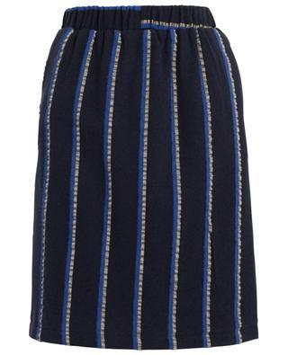 Jupe rayée en laine TOUPY