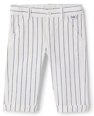 Striped baby trousers in seersucker IL GUFO