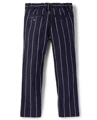 Pantalon rayé garçon en seersucker IL GUFO
