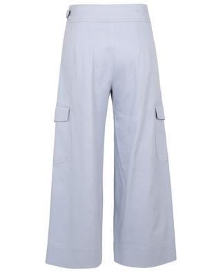 Pantalon cargo large en gabardine WINDSOR