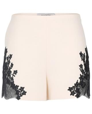 Shorts aus Couture-Crêpe mit Spitze VALENTINO