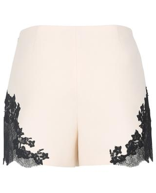 Lace embellished crepe couture shorts VALENTINO