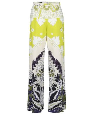 Pantalon large en popeline Tropical World Arazzo VALENTINO