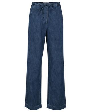VGold lightweight denim wide trousers VALENTINO