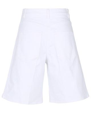 VGold white denim Bermuda shorts VALENTINO