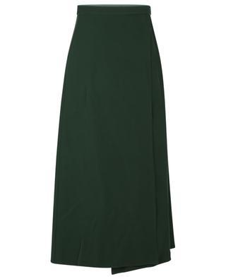 Midi-length cady wrap skirt in shades of green VALENTINO