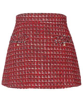 Minirock aus Sensation Lurex Tweed Roman Stud VALENTINO