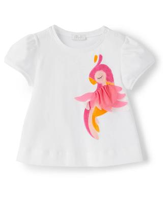 Baby T-shirt with parrot print IL GUFO
