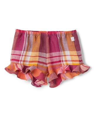 Checked baby shorts with flounces IL GUFO