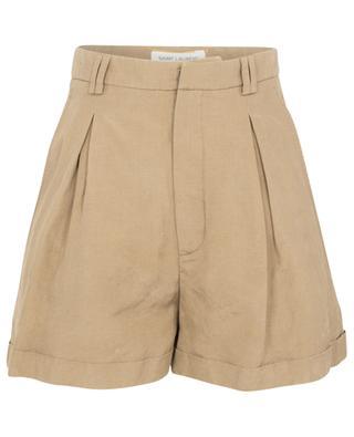 Silk and linen high-rise shorts SAINT LAURENT PARIS