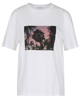 VHS Sunset photo printed T-shirt SAINT LAURENT PARIS