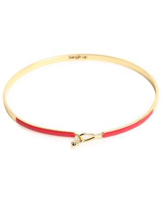 Bracelet doré orné d'émail rouge Lily BANGLE UP