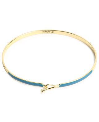 Bracelet doré orné d'émail bleu Lily BANGLE UP