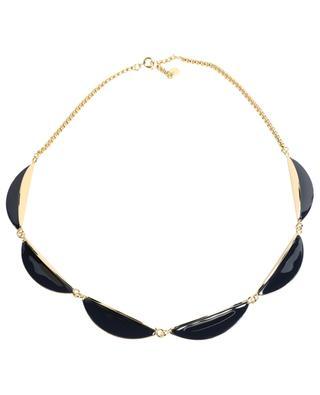 Goldene Halskette mit blauem Emaille Calisson BANGLE UP