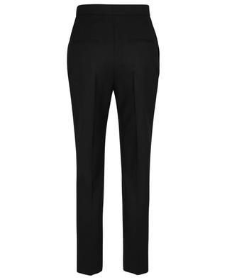 Pantalon slim taille haute en laine rayée SAINT LAURENT PARIS