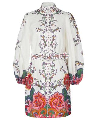 Tunika aus Leinen mit Paisley-Print The Lovestruck Buttoned ZIMMERMANN