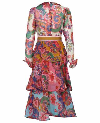 The Lovestruck Flounce printed georgette midi dress ZIMMERMANN