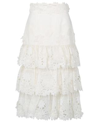 The Lovestruck midi floral appliqué skirt ZIMMERMANN