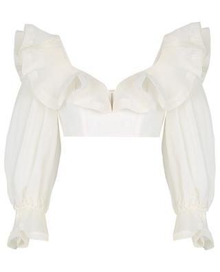 The Lovestruck Bodice cropped puff sleeve top ZIMMERMANN
