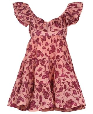 The Lovestruck rose printed pleated mini empire dress ZIMMERMANN