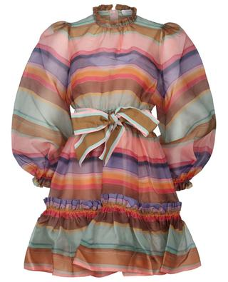 Minikleid aus gestreiftem Organza The Lovestruck Rainbow ZIMMERMANN