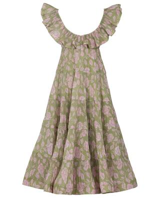 The Lovestruck pleated floral midi dress ZIMMERMANN