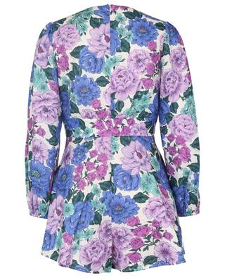 Poppy Plunge floral linen playsuit ZIMMERMANN