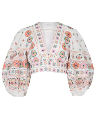 Brighton cropped embroidered top ZIMMERMANN