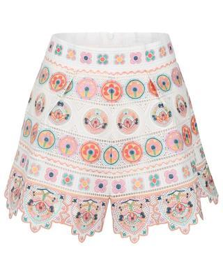 Brighton embroidered cotton shorts ZIMMERMANN