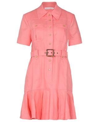 Poppy belted linen mini dress ZIMMERMANN