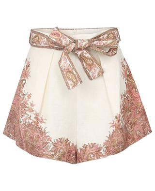 Brighton Tuck paisley printed linen shorts ZIMMERMANN