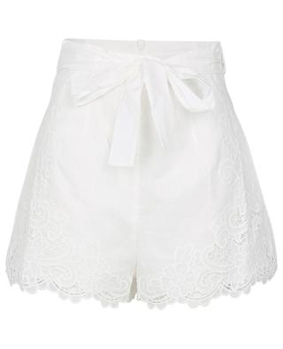 Shorts mit Gürtel und Lochstickdetails Lulu ZIMMERMANN